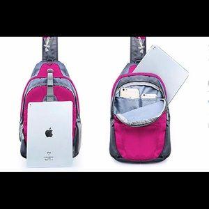 Sling Bag Chest Shoulder Backpack - Hot Pink